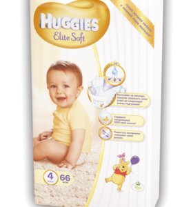 HUGGIES Elite Soft 4 100шт.