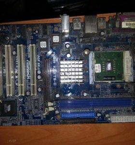 Материнка ASRock K7VT6-C + AMD Sempron 2200+