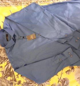 Рубашка приталенная (новая)