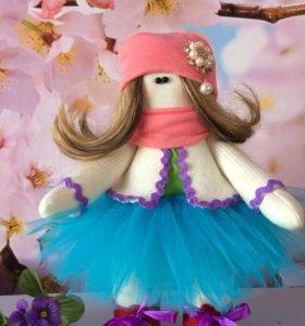 Текстильная интерьерная куколка 🌸