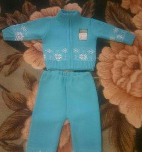 Вещи для мальчика голубой костюм новый с этикеткой
