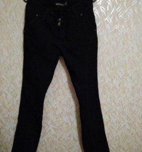 Джинсы, черные, размер 44-46