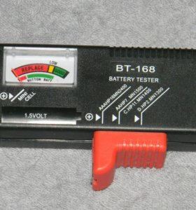 Тестер уровня заряда батареек и Акб 1,2V -1,5V -9V