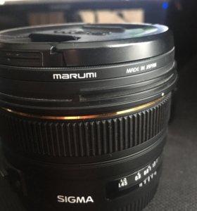 Объектив Sigma AF 50 1.4 EX HSM для Canon