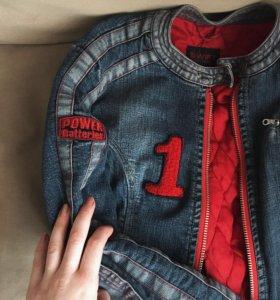 джинсовая теплая куртка SWIFT