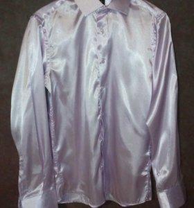 мужская атласная рубашка, М