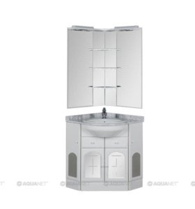 Комплект мебели угловой для ванной Ринконера