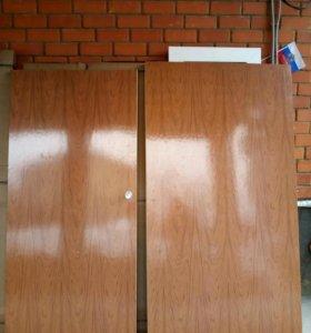 Двери межкомнатные, деревянные, крепкие, шпоновые