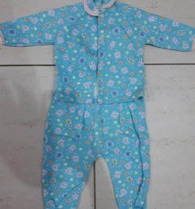 Пижама теплая р.80
