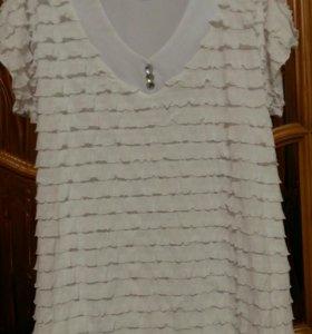 Новая белая блуза р.50-52