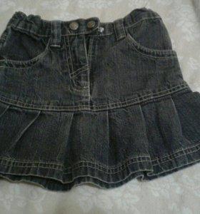 Юбка джинсовая 104 размер
