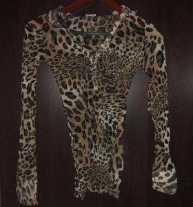 Блузка женская леопард