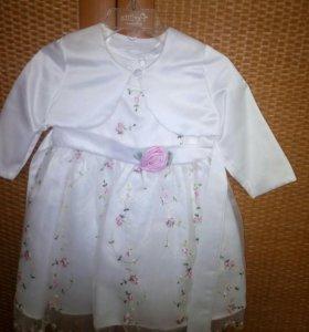 Праздничное платье для малышки.Размер 74-80 см.