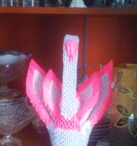 лебеди оригами
