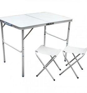 Folding Table Набор для пикника(стол скл.+2 стула)