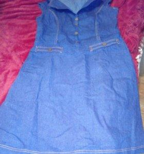 Платье- джинсовое