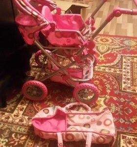 Детская игрушечная коляска - трансформер для кукол