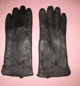 Перчатки женские кожаные р.6,5-7 новые
