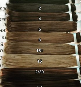 Накладные термо волосы на заколках
