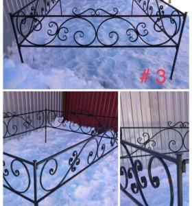 Ограды кованые, в наличии 2,1х1,5м и 2,1х3,0м