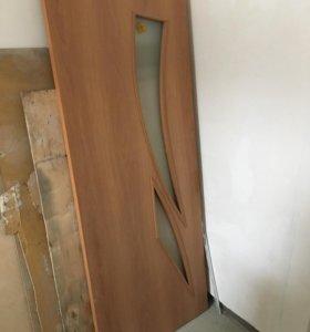 Межкомнатная дверь 80 см со стеклом