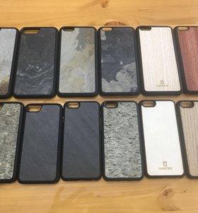 Деревянные , каменные чехлы на iPhone 6,7,7Plus,8