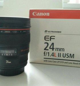 Объектив Canon 24mm f 1.4 L II