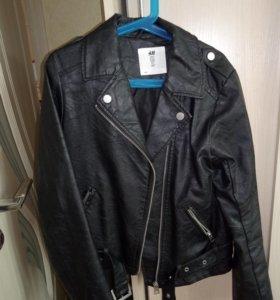Куртка H&M кожзам, рост 146
