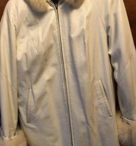 Отличная демисезонная куртка из натуральной кожи