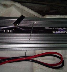 Инвертор (преобразователь) TBE 12V/24V-220v 5000W)
