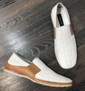 Мужские ботинки, новые, натуральная кожа. Италия