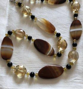 Бусы из натуральных камней
