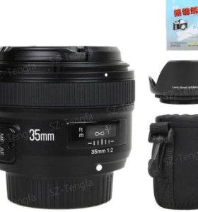 Объектив на Nikon Yongnuo YN 35mm f/1.8