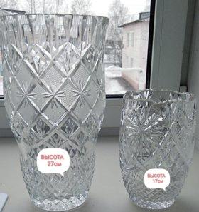 Продам настоящие хрустальные вазы 90х годов