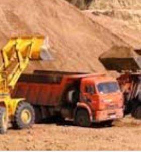 Песок,торф,щебень фракции 5-10,40-70 с доставкой