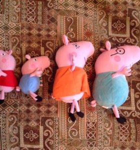 Свинка Пеппа с семьей