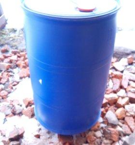 Бочка 227 литров пластиковая с 2 крышками