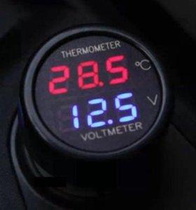 цифровой термометр, вольтметр