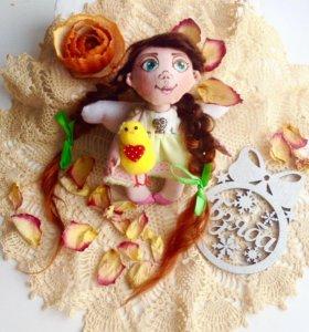 Текстильная кукла ангелок