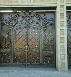 Ворота c отдельной калиткой