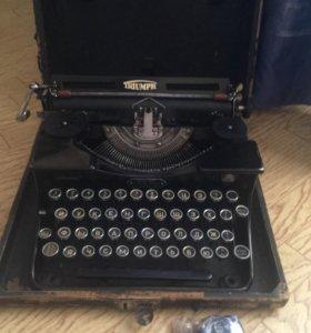 Пишущая машинка triumph немецкая