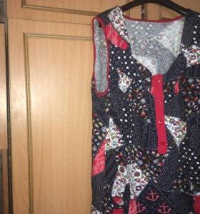 Блуза с карманами х\б  р 48-50 новая