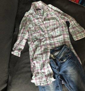 Рубашка в клетку / джинсы asos