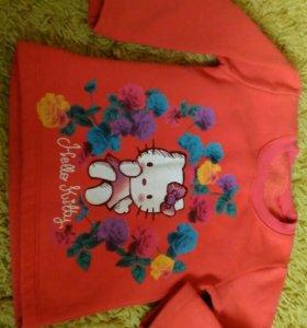 Теплая футболка Hello Kitty до 2г