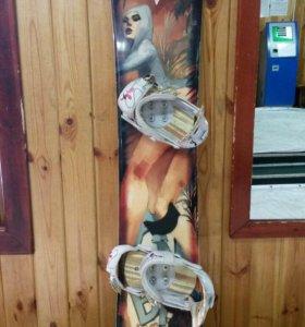 Сноуборд женский комплект