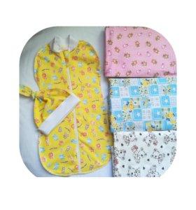 Пеленка-кокон для новорожденых