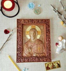Икона резная Христа Спасителя