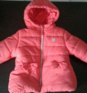 Новая детская тёплая демисезонная курточка.Baby Go