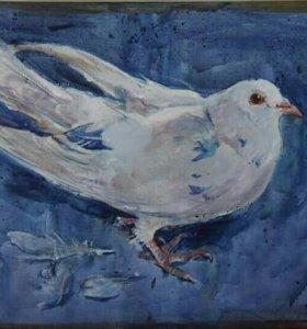 Картина голубь