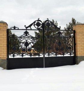 Ворота каслинское литье